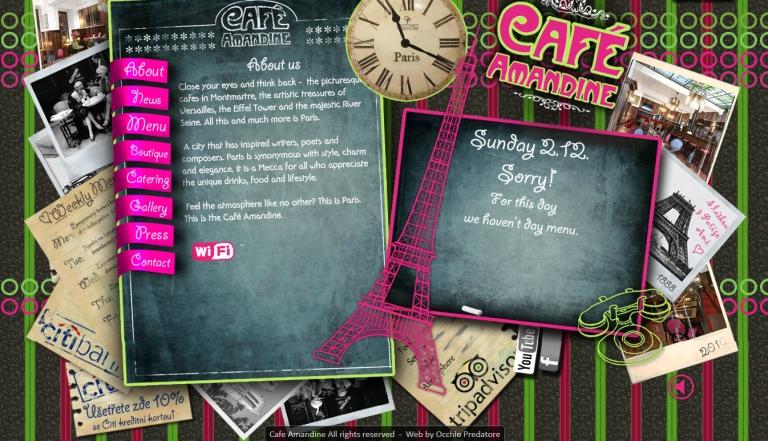Cafe Amandine Website