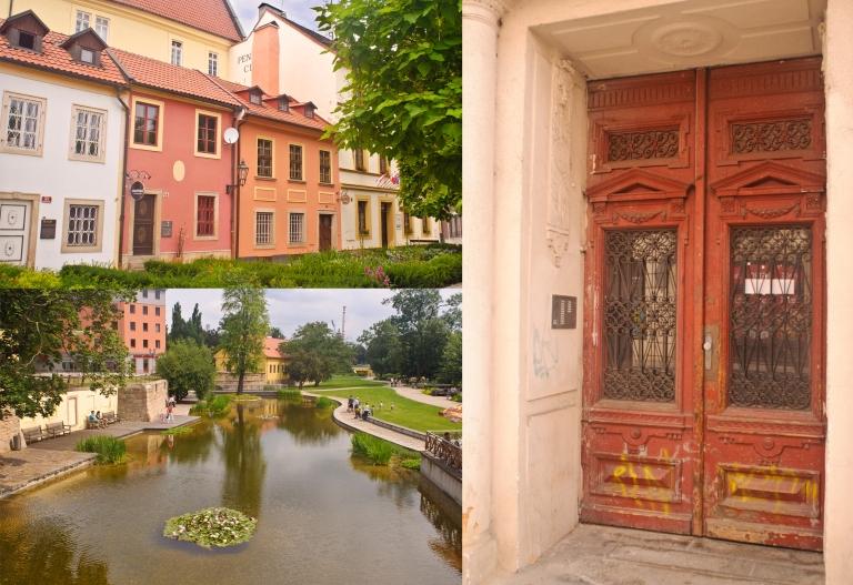 Row of Houses Pond Door
