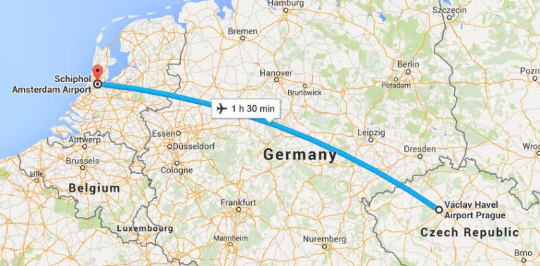 Prague to Amsterdam
